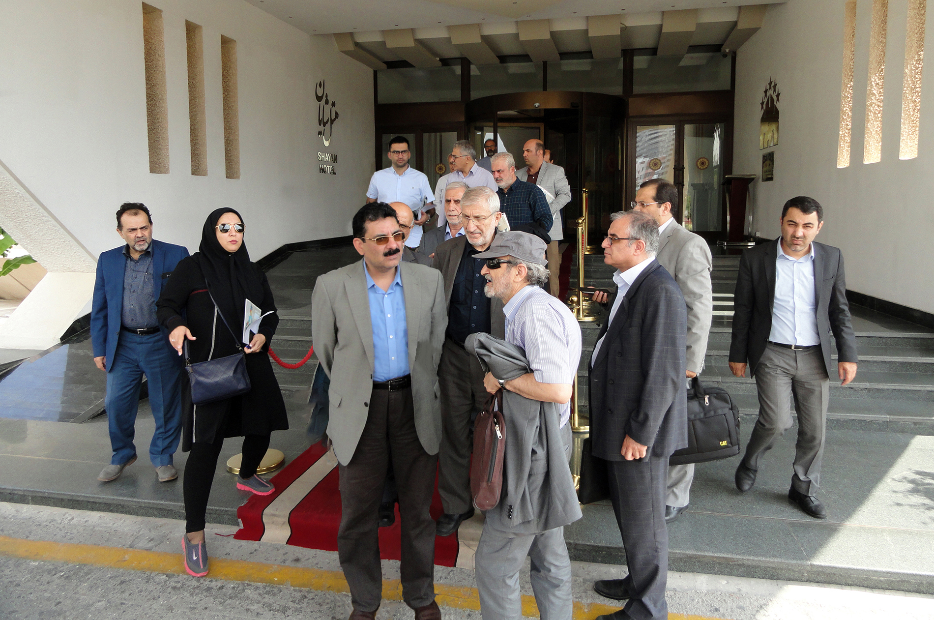 حضور جناب آقای سعیدی کیا در پروژه های شرکت تیسا کیش